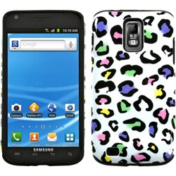 INSTEN Colorful Leopard Fusion Phone Case Cover for Samsung T989 Galaxy S II