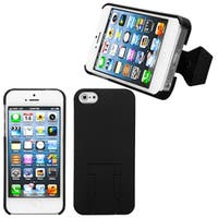 INSTEN Black Phone Case with Stand for Apple iPhone 5/ 5S/ SE