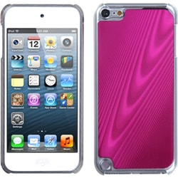 Insten Pink/ Clear Cosmo Aluminum Hard Plastic Metal Case Cover For Apple iPod Touch 5th/ 6th Gen