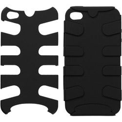 INSTEN Black Fishbone Phone Case Cover for Apple iPhone 4S/ 4