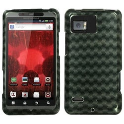 INSTEN Metal Plaid/ Silver Phone Case Cover for Motorola XT875 Droid Bionic