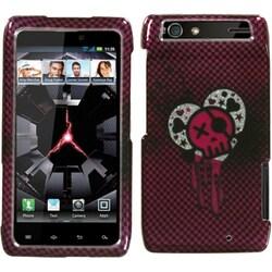 INSTEN I Heart Rock/ Silver Sparkle Phone Case Cover for Motorola XT912 Droid Razr