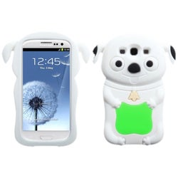 INSTEN Green/ White Cheeky Dog Skin Phone Case Cover for Samsung Galaxy S III
