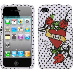 INSTEN Lizzo/ Gothic Rose Phone Case Cover for Apple iPhone 4S/ 4
