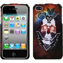 INSTEN Lightning Skull Phone Case Cover for Apple iPhone 4S/ 4
