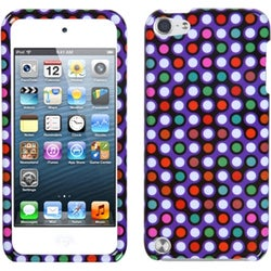 Insten Purple/ Other Grid Dots Hard Snap-on Glossy Case Cover For Apple iPod Touch 5th/ 6th Gen
