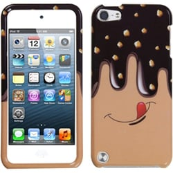 Insten Brown Rainbow Gemstones Hard Snap-on Case Cover For Apple iPod Touch 5th/ 6th Gen