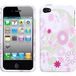 INSTEN Floral Garden Phone Case Cover for Apple iPhone 4S/ 4