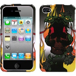 INSTEN Fire/ Snake Phone Case Cover for Apple iPhone 4S/ 4