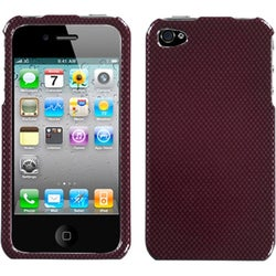 INSTEN Carbon Fiber/ Red Phone Case Cover for Apple iPhone 4S/ 4