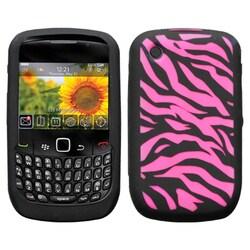 INSTEN Zebra/ Hot Pink Phone Case Cover for Blackberry 8520/ 8530/ 9300/ 9330