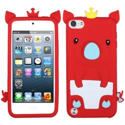 Insten Red/ White 3D Pig Soft Silicone Skin Rubber Case Cover For Apple iPod Touch 5th/ 6th Gen