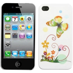 INSTEN Prismatic Butterfly Phone Back Phone Case Cover for Apple iPhone 4S/ 4