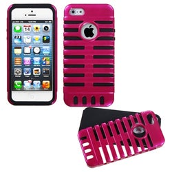 INSTEN Hot Pink/ Black Microphone Fusion Phone Case for Apple iPhone 5 / 5S / SE