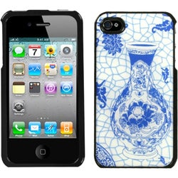 INSTEN Blue/ White Porcelain/ Bottle Dream Phone Case Cover for Apple iPhone 4S/ 4
