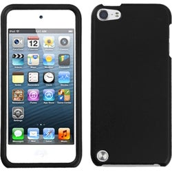 Insten Black Hard Snap-on Rubberized Matte Case Cover For Apple iPod Touch 5th/ 6th Gen