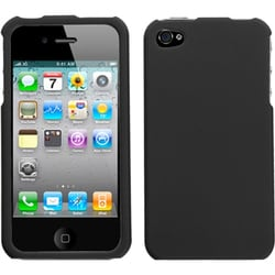 INSTEN Black Phone Case Cover for Apple iPhone 4S/ 4