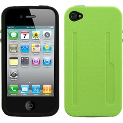INSTEN Pearl Green/ Black Fusion Phone Case Cover for Apple iPhone 4S/ 4