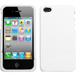INSTEN Solid Ivory Slash Phone Case Cover for Apple iPhone 4S/ 4