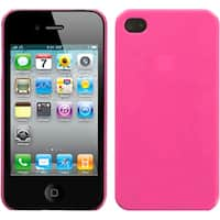 INSTEN Natural Pink Phone Back Phone Case Cover for Apple iPhone 4S/ 4