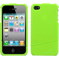 INSTEN Natural Pearl Green Slash Phone Case Cover for Apple iPhone 4S/ 4