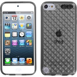 Insten Smoke Clear Argyle TPU Rubber Candy Skin Glossy Case Cover For Apple iPod Touch 5th/ 6th Gen
