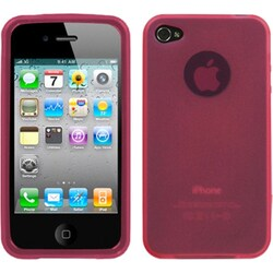INSTEN Semi-transparent Pink Candy Skin Phone Case Cover for Apple iPhone 4S/ 4