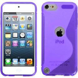 INSTEN Purple S-shape Candy Skin iPod Case Cover for Apple iPod touch