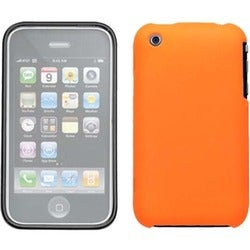 INSTEN Orange Phone Case Cover With Lens for Apple iPhone 3GS/ 3G