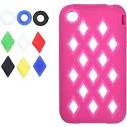 INSTEN Hot Pink/ Module Skin Phone Case Cover for Apple iPhone 3GS/ 3G