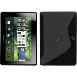 INSTEN Black S Shape Candy Skin Phone Case Cover for Blackberry Playbook