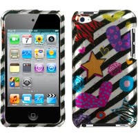 INSTEN Color Heart 2D Silver iPod Case Cover for Apple iPod Touch Generation 4