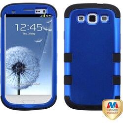 INSTEN Blue/ Black TUFF Hybrid Phone Case Cover for Samsung Galaxy S3/ S III i9300