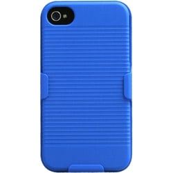 INSTEN Blue Hybrid Holster for Apple iPhone 4/ 4S