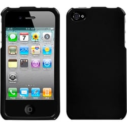 INSTEN Black Phone Case Cover for Apple iPhone 4/ 4S
