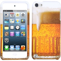 Insten Orange/ White Beer Hard Snap-on Glossy Case Cover For Apple iPod Touch 5th/ 6th Gen