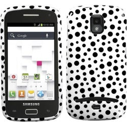 INSTEN Black Polka Dots Phone Case Cover for Samsung T699 Galaxy S/ Replay 4G