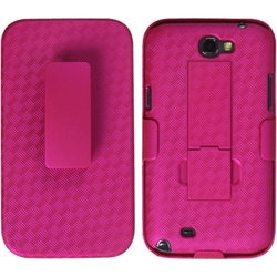 INSTEN Hot Pink Phone Case Cover with Stand for Samsung Galaxy Note IT889/ I605