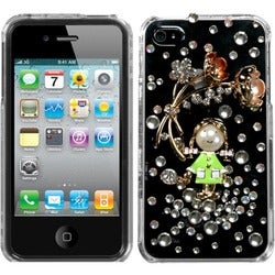 INSTEN Crystal Diamante Phone Case Cover for Apple iPhone 4S/ 4