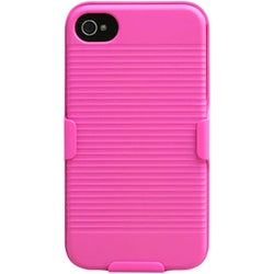 INSTEN Hot Pink Hybrid Holster for Apple iPhone 4S/ 4