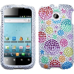 INSTEN Rainbow Bigger Bubbles Diamond Phone Case Cover for Huawei M865 Ascend II