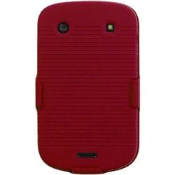 INSTEN Red Hybrid Holster for Blackberry Bold 9930/ 9900