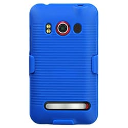 INSTEN Blue Hybrid Holster for HTC EVO 4G