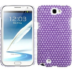 INSTEN Dots/ Purple/ White/ Pearl Phone Case Cover for Samsung Galaxy Note II/ 2