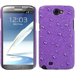 INSTEN Baby Purple/ Pearl Phone Case Cover for Samsung Galaxy Note II T889/ I605