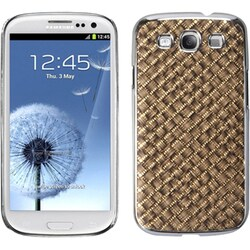 INSTEN Brown/ Silver/ Plaid Gold Phone Case Cover for Samsung Galaxy S3/ III i9300