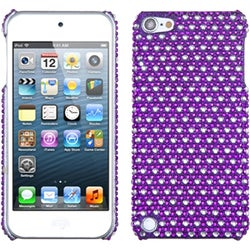Insten Purple/ White Dots Hard Snap-on Diamond Bling Case Cover For Apple iPod Touch 5th/ 6th Gen