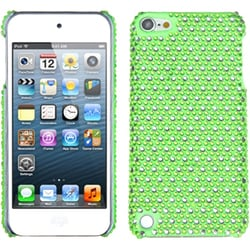 Insten Green/ White Dots Hard Snap-on Rhinestone Bling Case Cover For Apple iPod Touch 5th/ 6th Gen