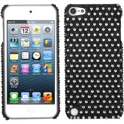 Insten Black/ White Dots Hard Snap-on Diamond Bling Case Cover For Apple iPod Touch 5th/ 6th Gen
