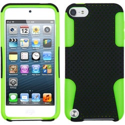 Insten Black/ Neon Green Mesh Astronoot Hard PC/ Silicone Dual Layer Hybrid Case Cover For Apple iPod Touch 5th/ 6th Gen